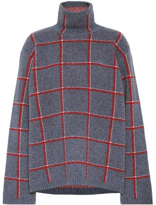 Undercover Checked wool turtleneck sweater