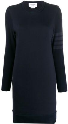 Thom Browne Sweater Dress In Classic Loopback w/ 4 Bar