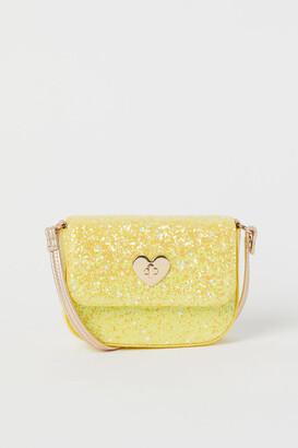 H&M Glittery Shoulder Bag - Yellow