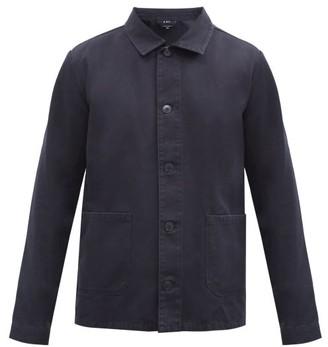 A.P.C. Kerlouan Washed Cotton-gabardine Overshirt - Black