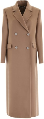 Alessandra Rich Double-Breasted Long-Line Coat