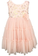 Popatu Metallic Butterfly Tulle Dress