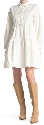 MelloDay Long Sleeve Babydoll Dress