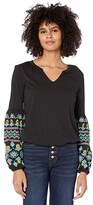 Thumbnail for your product : Rock and Roll Cowgirl Billow Sleeve Top Puff Print 48T7641