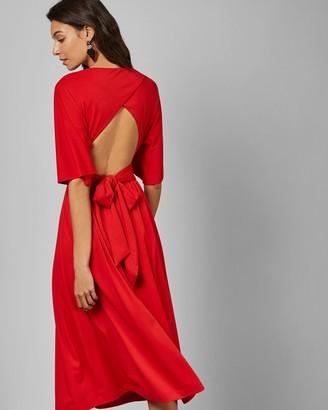 Ted Baker Cross Over Wrap Midi Dress