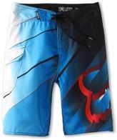Fox Tracer Boardshort (Big Kids) (Blue) - Apparel