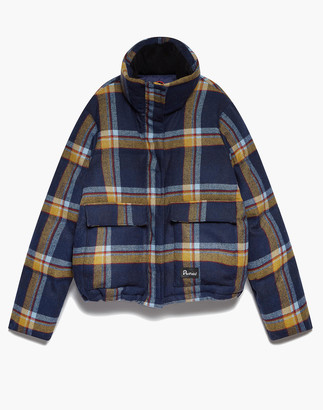 Madewell Penfield Plaid Flannel Wyeford Puffer Jacket
