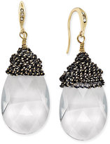 ABS by Allen Schwartz Gold-Tone Dark Horse Chain and Stone Drop Earrings