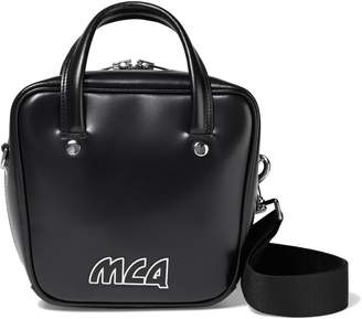 McQ Ivy Small Logo-appliqued Glossed-leather Shoulder Bag