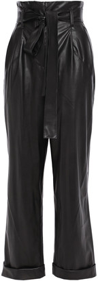 Each X Other Cropped Faux Leather Wide-leg Pants