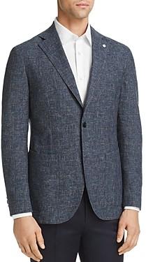 L.b.m Washed Plaid Slim Fit Sport Coat