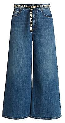 Stella McCartney Women's Eco Dark Stone Wide-Leg Jeans