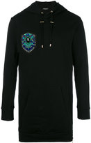Balmain embroidered side zip hoodie