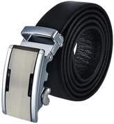 Panegy Ratchet Leather Dress Belt Grain 35mm Alloy Auto Buckle