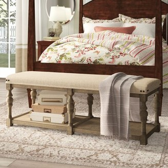 "Birch Laneâ""¢ Heritage Onida 54"" Upholstered Shelves Storage Bench Birch Lanea Heritage"