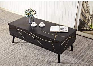 Home Source Industries Home Source Natalie Mid Century Modern Cocktail Table
