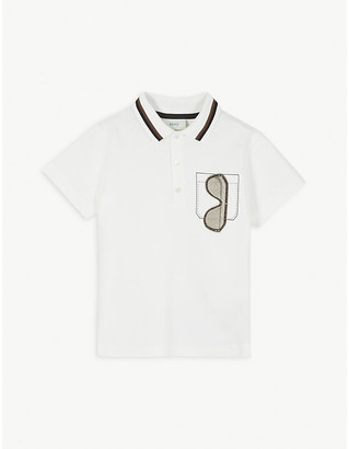 Fendi Sunglasses cotton polo shirt 4-14 years