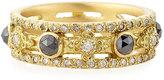 Armenta Sueno Yellow Gold Band Ring with Diamonds