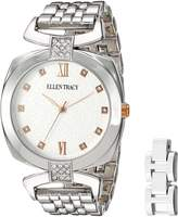 Ellen Tracy Women's Quartz Metal and Alloy Automatic Watch, Color: (Model: ET5224SLR)