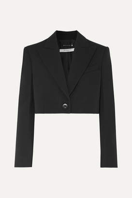 Givenchy Cropped Wool And Silk-blend Twill Blazer - Black
