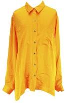 Michael Kors Long Sleeve Womens Blouse Size XL US Regular Yellow Polyester