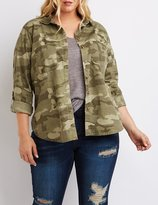 Charlotte Russe Plus Size Camo Button-Up Shirt