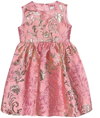 Dolce & Gabbana Kids Floral brocade dress