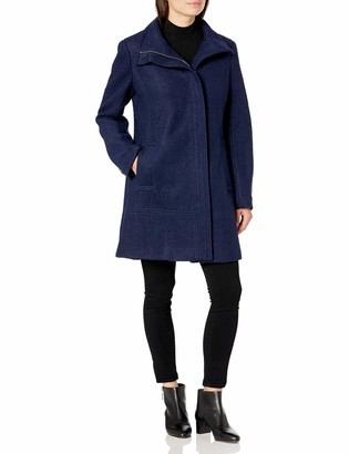 Calvin Klein Women's Asymmetrical Boucle Wool Coat