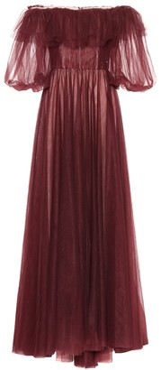 Valentino Off-the-shoulder tulle gown