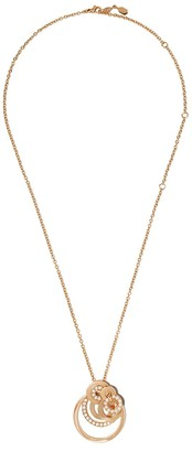de Grisogono 18kt Rose Gold Multiple Circle Diamond Pendant Necklace