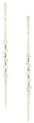 Adriana Orsini Gold-Plated Silver Cubic Zirconia Tivoli Pointy Linear Earrings