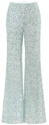 Halpern Sequined wide-leg pants