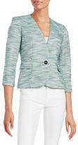 Nipon Boutique Tweed One-Button Blazer
