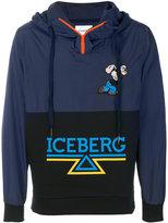 Iceberg logo bicolour hoodie