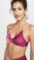 Jonathan Simkhai Ombre Twist Front Bikini Top