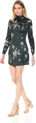 Finders Keepers Finderskeepers findersKEEPERS Women's Afterglow Floral Long Sleeve Mockneck Open-Back Mini Dress