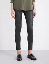 AG Jeans Ladies Black Innovative Modern The Farrah Super-Skinny Mid-Rise Leatherette Jeans
