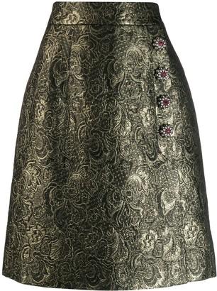 Dolce & Gabbana Embellished Brocade Skirt