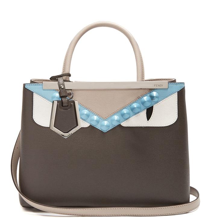 Fendi Petite 2Jours Bag Bugs leather tote
