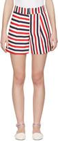 Thom Browne Tricolor Single Pleat Mini Shorts
