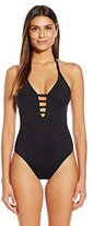 LaBlanca La Blanca Women's Island Goddess Keyhole Halter One-Piece Swimsuit