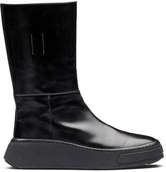 Prada Slip-On Leather Boots