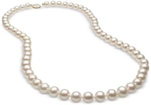 Belle de Mer Cultured Freshwater Pearl (7mm) Strand in 14k Gold