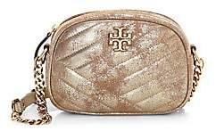 Tory Burch Women's Small Kira Chevron Metallic Leather Camera Bag
