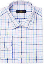 Club Room Men's Big & Tall Classic/Regular Fit Pink Lilac Check Dress Shirt, Only at Macy's