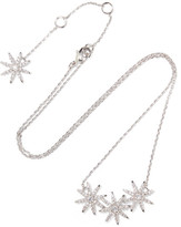 Kenneth Jay Lane Silver-plated Cubic Zirconia Necklace - one size