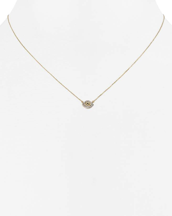 Adina Diamond Evil Eye Necklace, 15