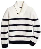 Brooks Brothers Boys' Striped Shawl-Collar Sweater - Big Kid
