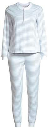 Morgan Lane Kaia 2-Piece Striped Pajama Set