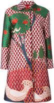 RED Valentino Fantasia coat - women - Cotton/Polyester/Acetate - 40